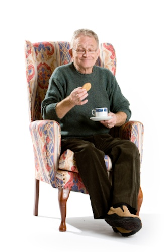Senior with tea