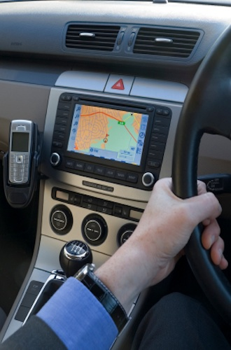 Navigation in a car